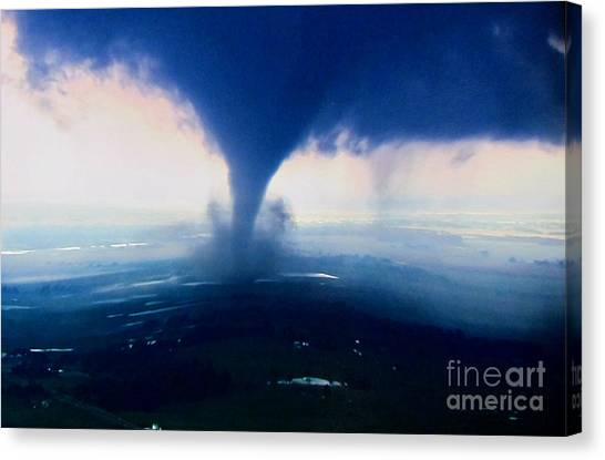 3d Tornado With Wide Angle Lens Canvas Print