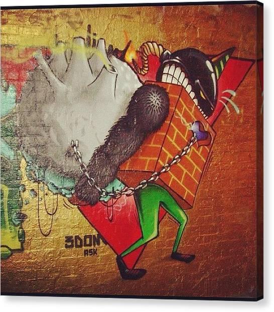 Graffiti Walls Canvas Print - #3dom #bristolart #bristol #subwayart by Nigel Brown