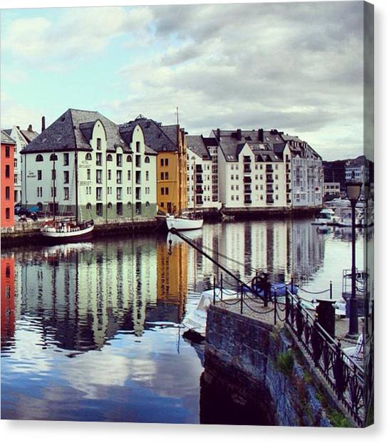 Seas Canvas Print - Alesund - Norway by Luisa Azzolini
