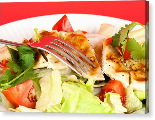 Salad Canvas Print - Chicken Salad by Blink Images