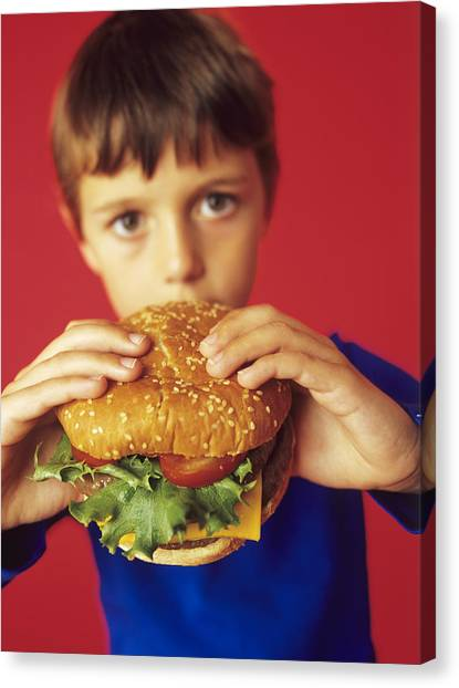 Cheesburger Canvas Print - Fast Food by Ian Boddy