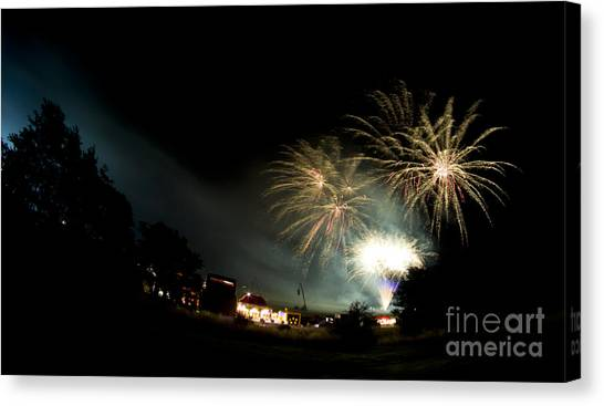 Fireworks Canvas Print by Angel Ciesniarska