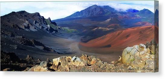 Haleakala Crater In Maui Hawaii Canvas Print