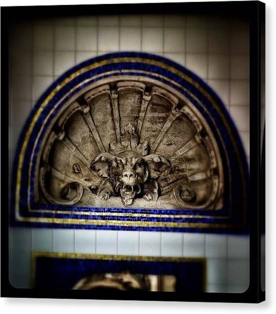 Subway Canvas Print - Historic Nyc Architectural Elements by Natasha Marco