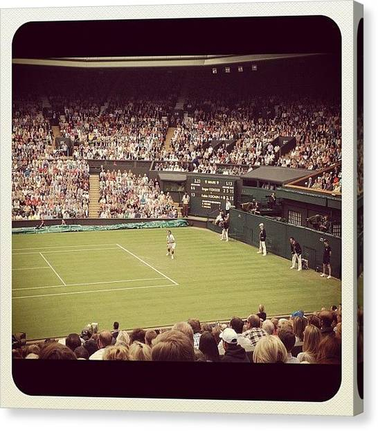 Tennis Pros Canvas Print - Instagram Photo by Elizabeth Roach