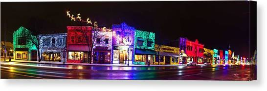Christmas Lights Canvas Print - Rochester Christmas Light Display by Twenty Two North Photography