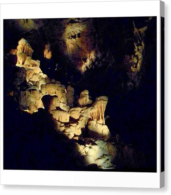Stalagmites Canvas Print - #rock #stone #naturalbridgecaverns by Clifford McClure