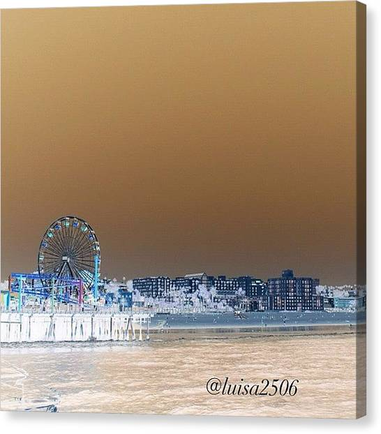 Cool Canvas Print - Santa Monica by Luisa Azzolini