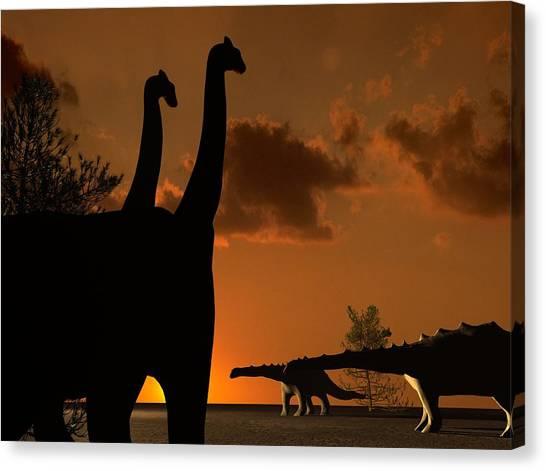 Brachiosaurus Canvas Print - Sauropod Dinosaurs by Christian Darkin