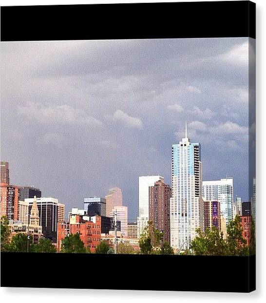 Wolves Canvas Print - 4 Seasons Downtown Denver by Wolf Stumpf