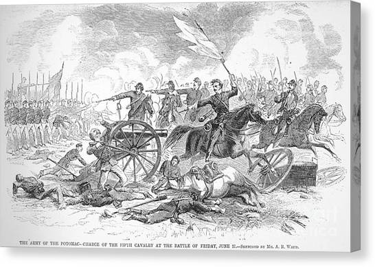 Army Of The Potomac Canvas Print - Seven Days Battles, 1862 by Granger