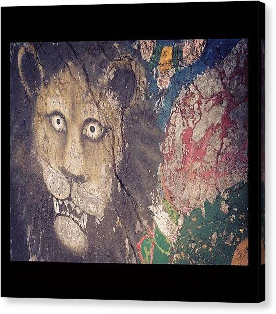 Lions Canvas Print - #shiva #cafe #mcleodganj #trek #boom by Sahil Gupta