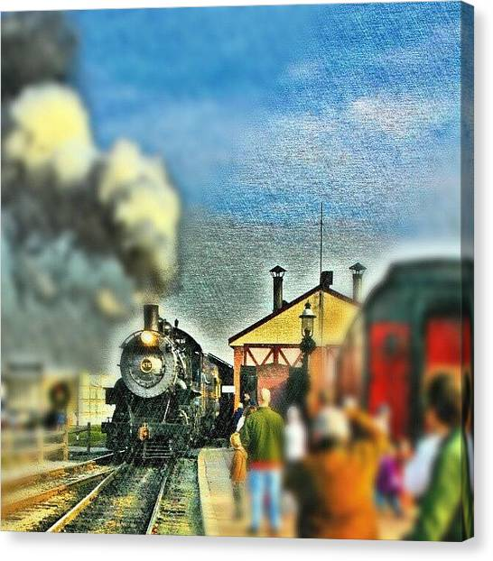 Steam Trains Canvas Print - #strasburg #railroad #lancaster #county by Antonio DeFeo