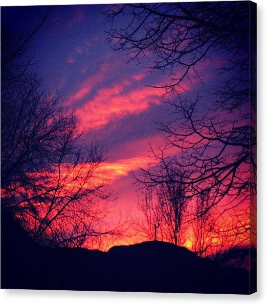 Red Canvas Print - Sunset by Luisa Azzolini
