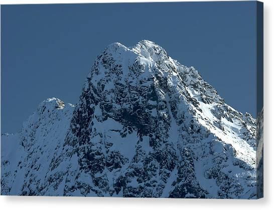 Tatra Mountains Winter Scenery Canvas Print by Waldek Dabrowski