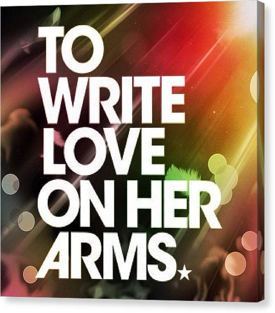 Surfing Canvas Print - To Write #love On Her Arms Aka #twloha by Asaf S
