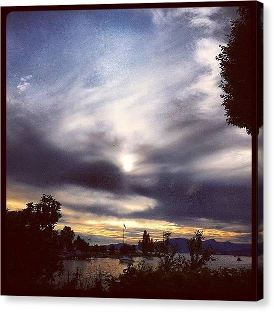 Beach Sunsets Canvas Print - #vancouver #sun #sunset #summersolstice by Eric Prudhomme