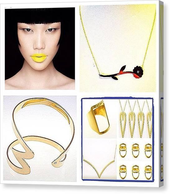 Jewelry Canvas Print - Www.masonharlie.com by Nicki Galper