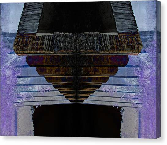 Tunnel Canvas Print by Michele Caporaso