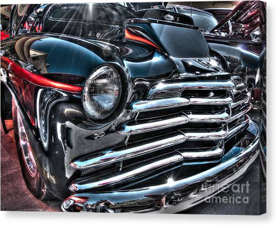 48 Chevy Convertible 2 Canvas Print