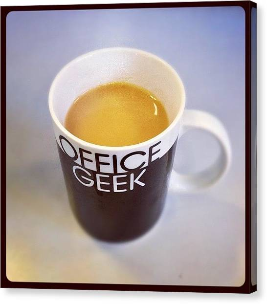 Offices Canvas Print - 4th Cup Of Tea This Morning by James Greer