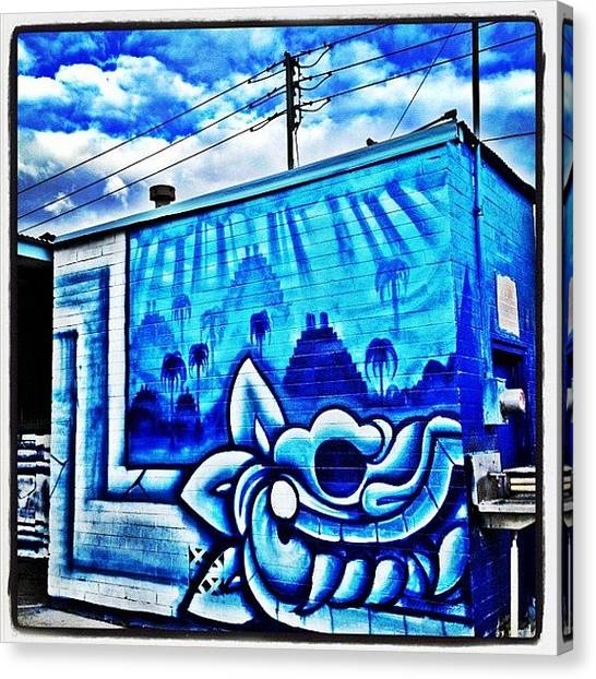 Dragons Canvas Print - #arizona #phoenix #spraypaint by CactusPete AZ