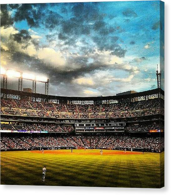 Baseball Teams Canvas Print - Coors Field by The Ambs