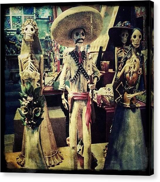 Mexican Canvas Print - Dia De Los Muertes Characters by Natasha Marco