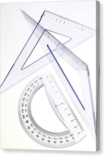 Protractors Canvas Print - Geometry Set by Tek Image