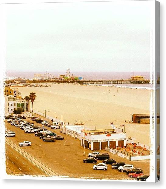 Santa Monica Pier Canvas Print - Instagram Photo by Elizabeth Roach