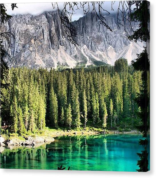 Italy Canvas Print - Lake Of Carezza by Luisa Azzolini