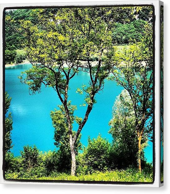 Italy Canvas Print - Lake Of Tenno by Luisa Azzolini