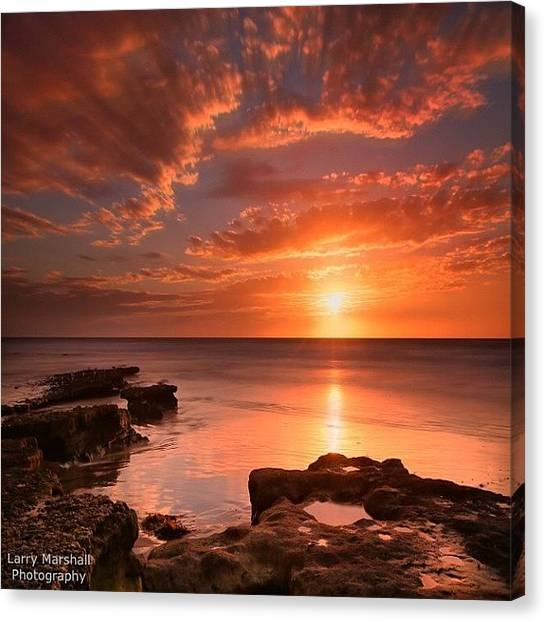 Long Exposure Sunset At A North San Canvas Print by Larry Marshall