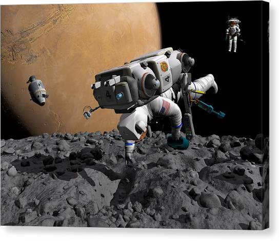 Mission To Mars, Artwork Canvas Print by Walter Myers
