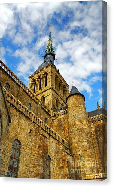 Fortification Canvas Print - Mont Saint Michel by Elena Elisseeva