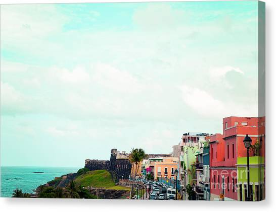 Seascapes Canvas Print - Old San Juan Puerto Rico by Kim Fearheiley