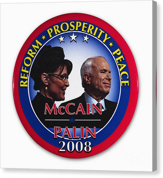 Republican Politicians Canvas Print - Presidential Campaign, 2008 by Granger
