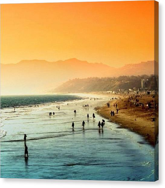 Amazing Canvas Print - Santa Monica Beach by Luisa Azzolini