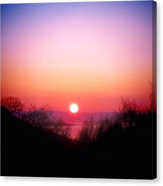 Sun Canvas Print - Scottish Sunset by Luisa Azzolini