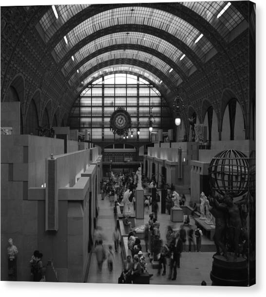 5 Seconds In The Musee D'orsay Canvas Print by Loud Waterfall Photography Chelsea Sullens