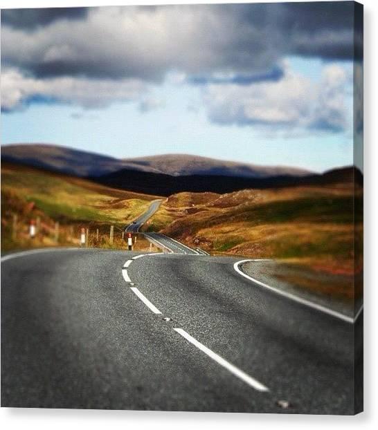 Roads Canvas Print - Shetland's Road by Luisa Azzolini