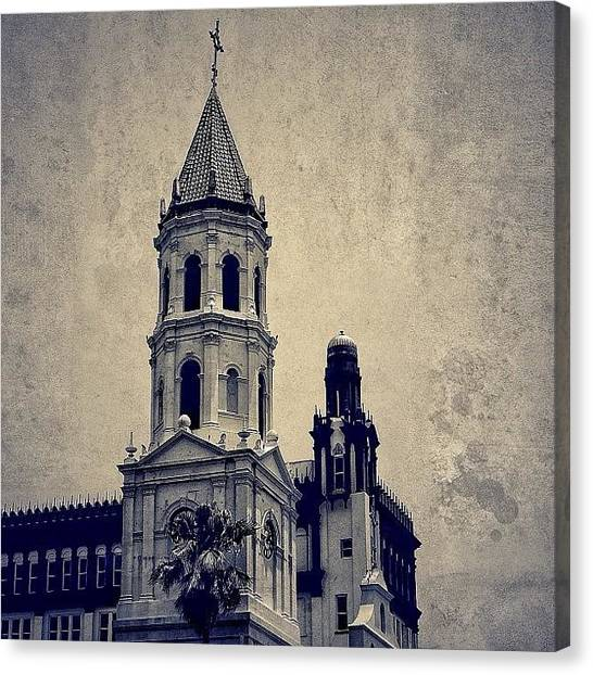 Religious Canvas Print - Spanish Fl - St. Augustine by Joel Lopez