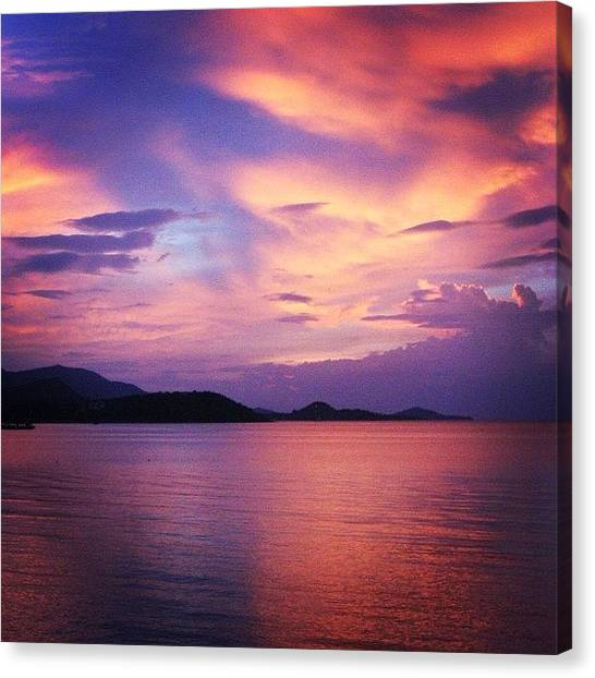 Sunset Canvas Print - Sunset by Luisa Azzolini