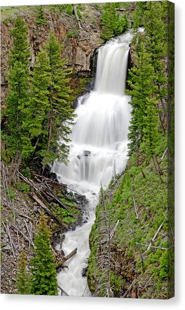 Waterfall Canvas Print by Elijah Weber
