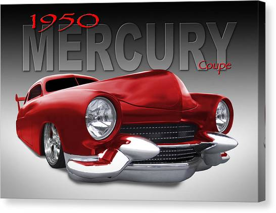 Coupe Canvas Print - 50 Mercury Lowrider by Mike McGlothlen