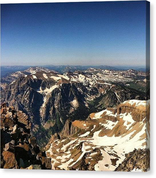 Tetons Canvas Print - Instagram Photo by Niels Rasmussen