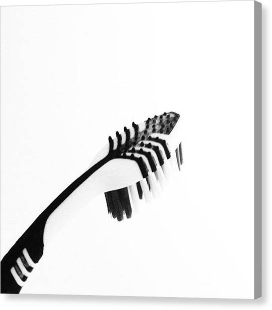 Toothbrush Canvas Print - Instagram Photo by Karen O