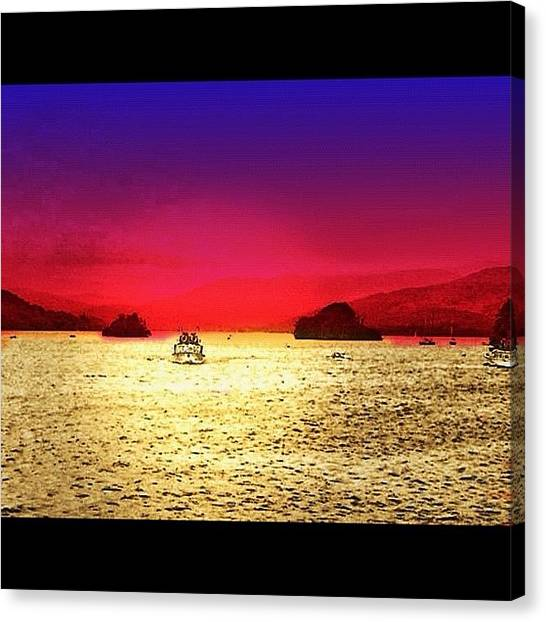 Ocean Sunsets Canvas Print - Instagram Photo by Eda Ozguler