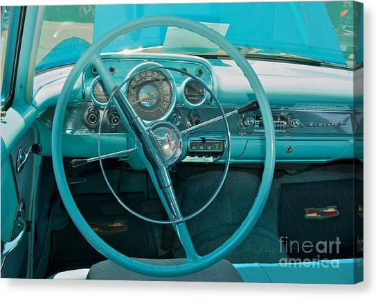 57 Chevy Bel Air Interior 2 Canvas Print