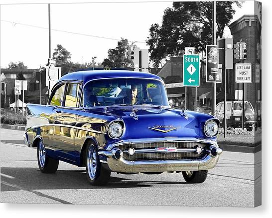 57 Chevy Selective Color Canvas Print
